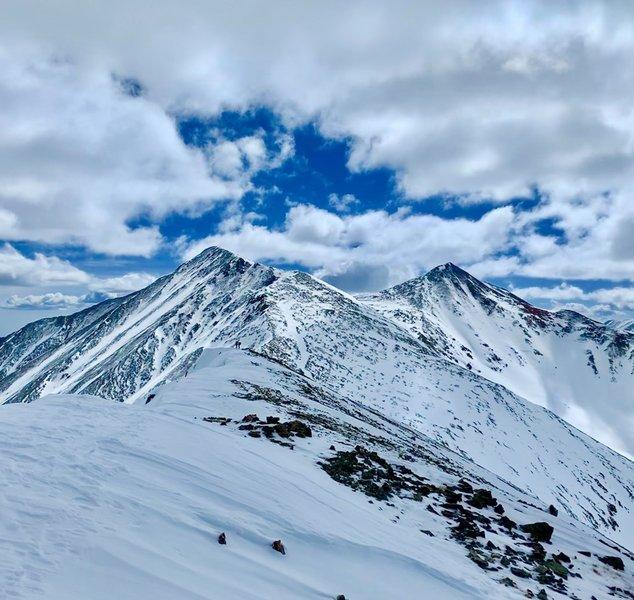 Torreys Peak and Grays Peak from Grizzly Peak