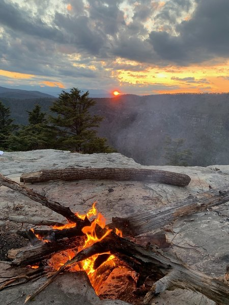 Sunset view campsite.
