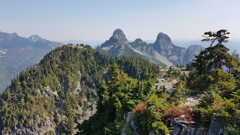 View of the Twin Sisters along the Howe Sound Crest Trail