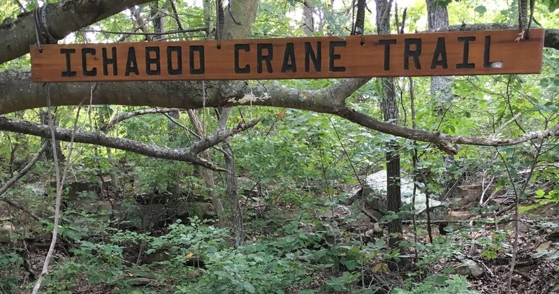 Sign at the start of the Ichabod Crane Trail