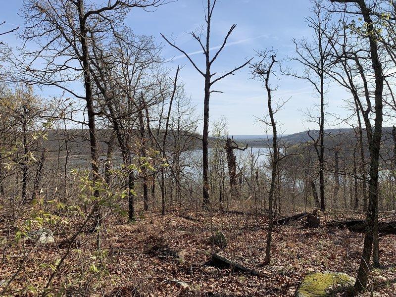 Scenic views from Bixhoma Bluff Trail