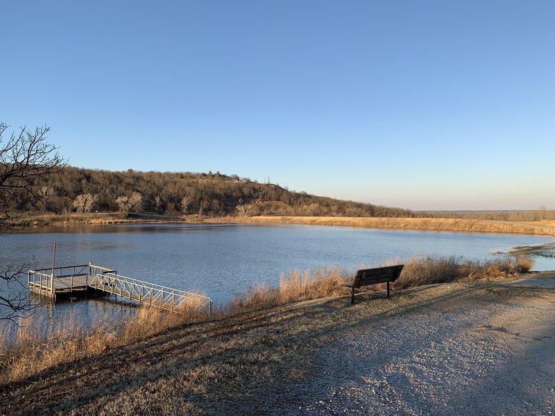 Bixhoma Lake/Dam from east end of Bixhoma Lake Trail