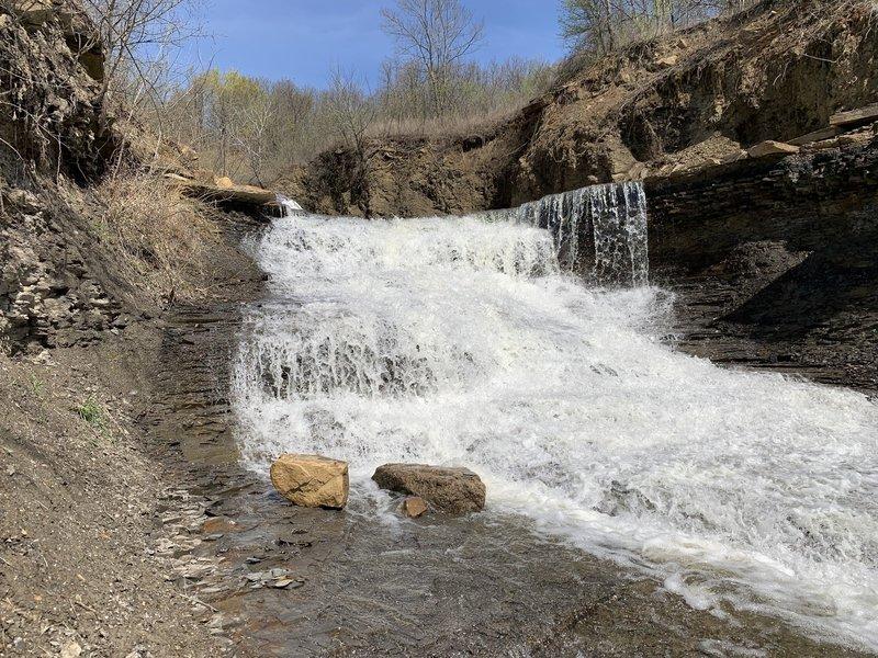 Upper part of the falls