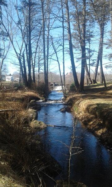 Secret path behind the dam