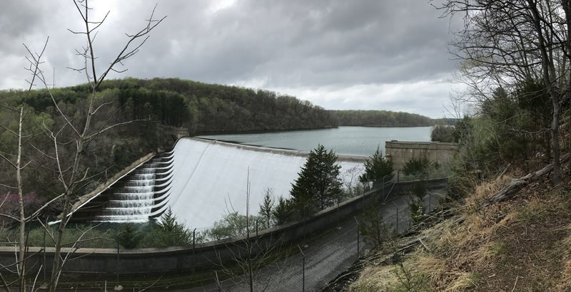 Panoramic view overlooking the spillway