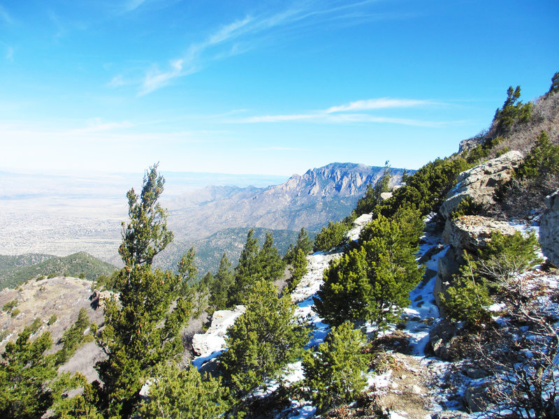 On the way to the South Sandia Peak from the South Crest