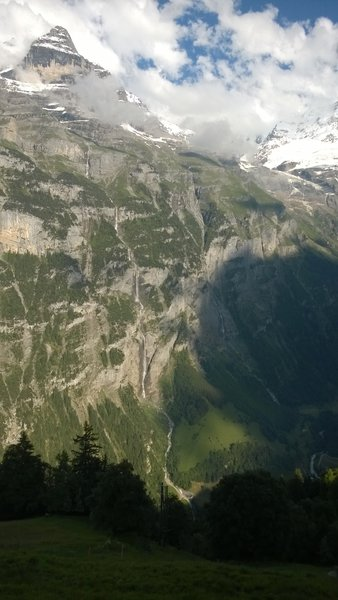 The western wall of the Jungfrau massive