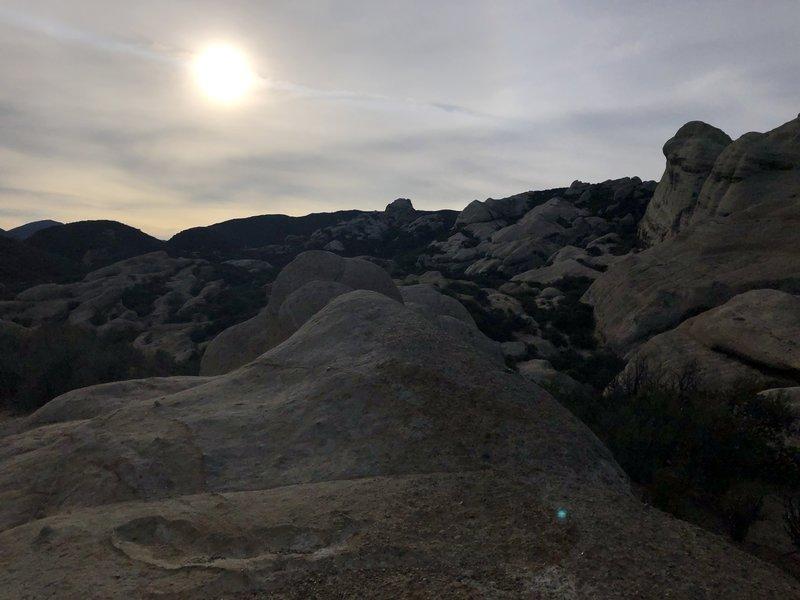 Piedra Blanca during sunset