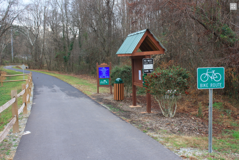 Salisbury Greenway (Grants Creek) Kiosk at Hogans Valley Way
