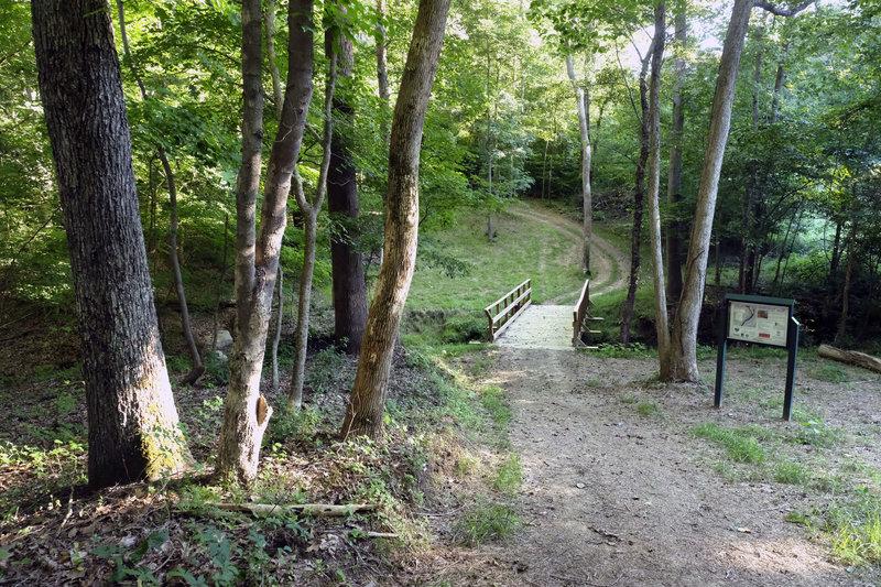 Bridge at Mountain Island Park Trail