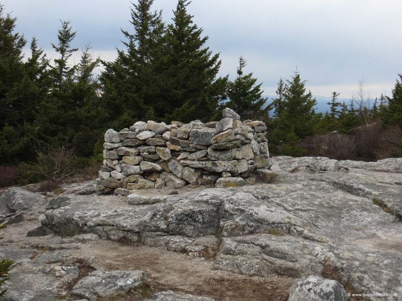 Massive cairn at the summit.