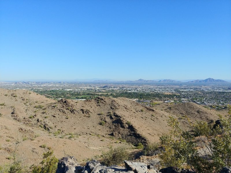 From Javelina Trailhead UP the Ridgeline Trail to view north and east of the Phoenix Valley. It's worth the steep climb.