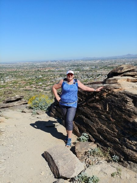 About half way up the Mormon Trail there is a favorite photo spot with excellent views of the city and across the valley! Stop for a quick break and photo ops
