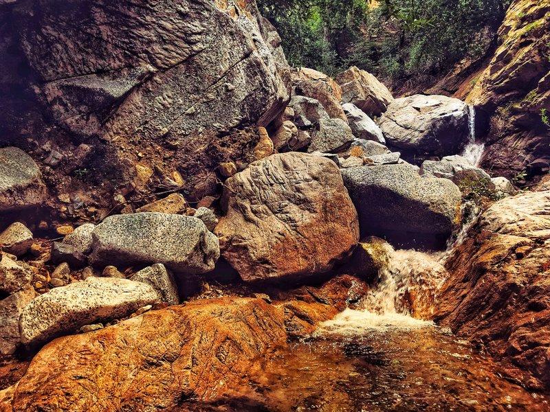Rock-Hopping terrain in  Millard Canyon