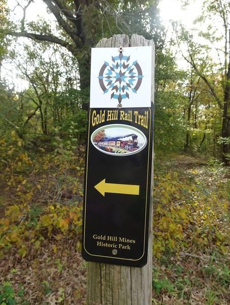 Gold Hill Rail Trail signage