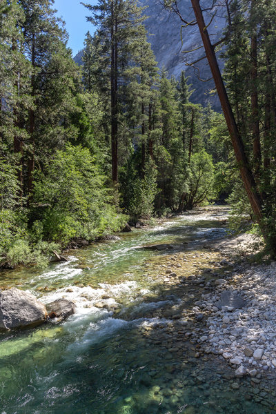 Upstream South Fork Kings River from the Bailey Bridge