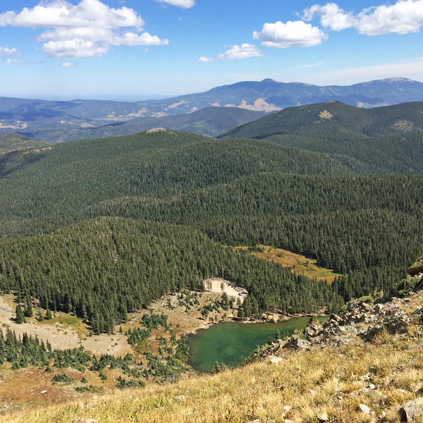 Overlooking Goose Lake from the Gold Hill Trail.