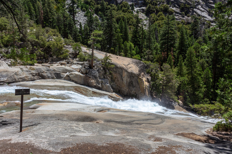 Do not get too close to the water at the top of Mist Falls. The slickrock can be very slippery.