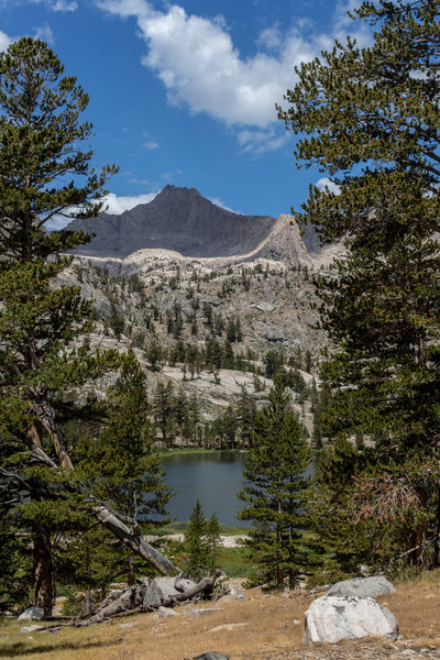 Arrowhead Lake with Mount Clarence King in the background.