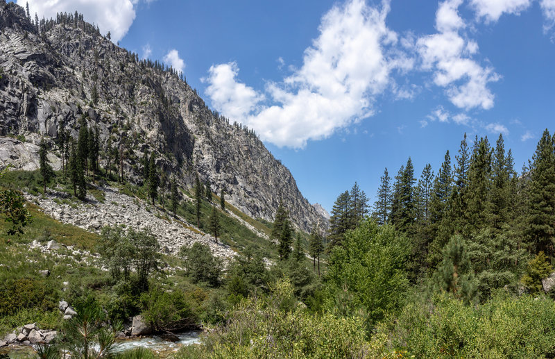 Bubbs Creek is accessible in a few locations along the trail.