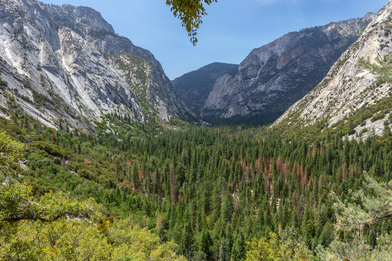 Kings Canyon from the switchbacks on Bubbs Creek Trail