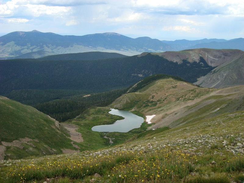 Horseshoe Lake as seen from the Wheeler Peak Trail.