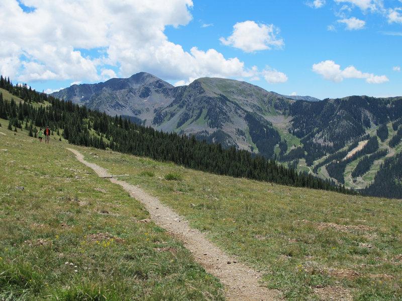 Wheeler Peak Trail affords spectacular views of Taos ski resort, Kachina Peak and Lake Fork Peak.