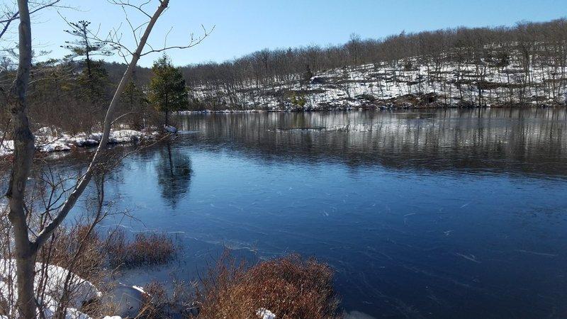 Surprise lake, beautiful in the winter