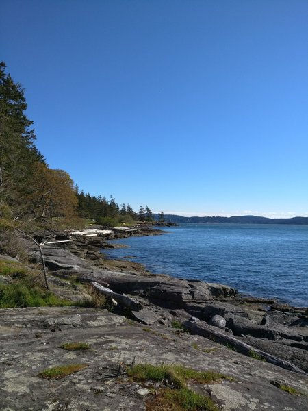 View of the rocky coast from Ruckle Campground