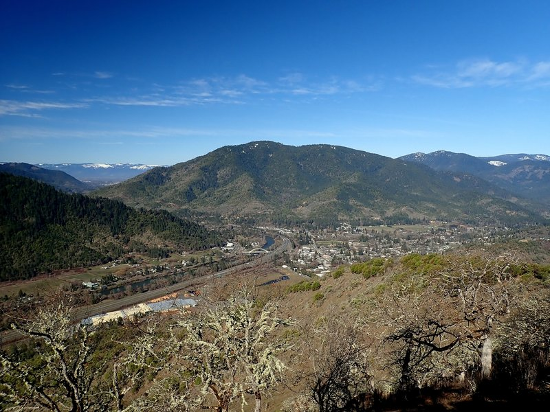 The City of Rogue River from near the top of Tin Pan Peak