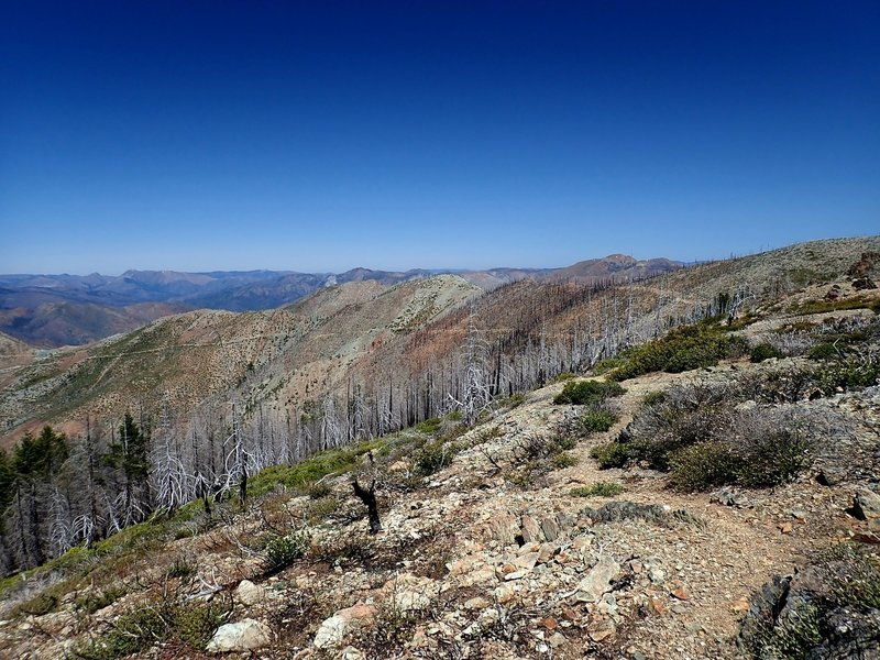 Looking north from the Rim Trail near Canyon Peak