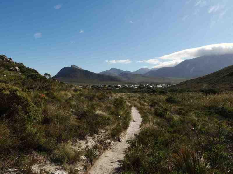 Start of the trail in Pringles.