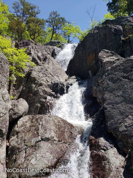 The cascades of Mina Sauk Falls after spring rainfall