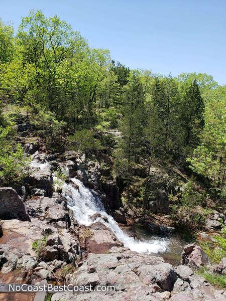 Mina Sauk Falls from the Ozark Trail