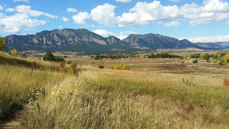 Views of the Flatirons.