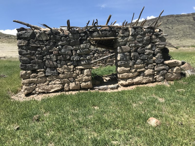 An old stone cabin near Indian Hot Springs