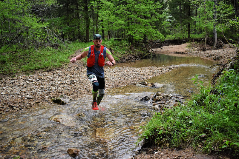 Trail of Four Winds 25K Creek Crossing at approximately 12.5 mile marker - May 4, 2019