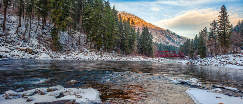 Icicle Creek and the Red Bridge