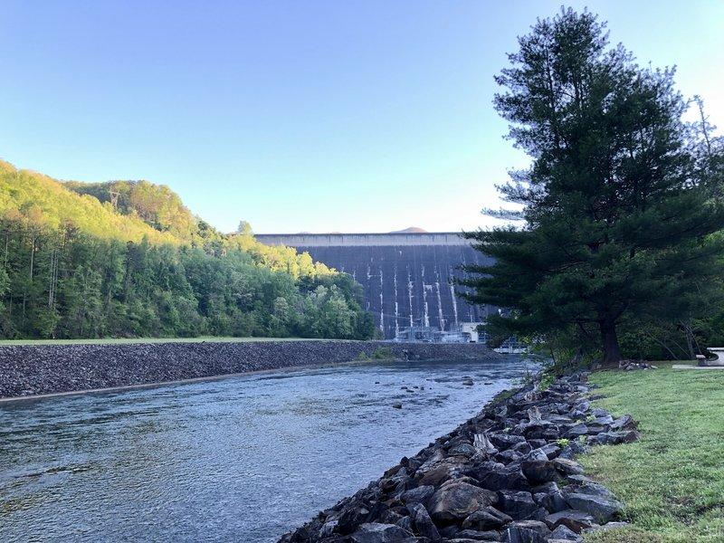 Fontana Dam from the Fontana Dam Campground