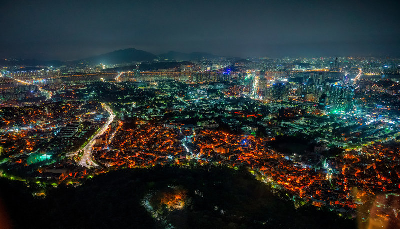 View from Namsan Tower section of Seoul Wall Trail