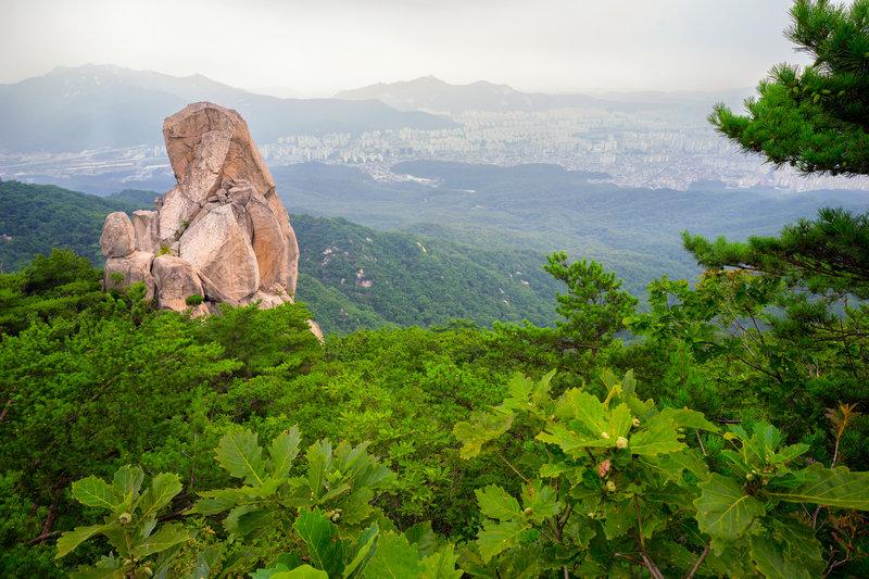 Uiam Rock overlooking the city