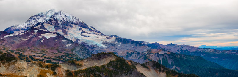 Commanding Views of Rainier and everything on this side of the park