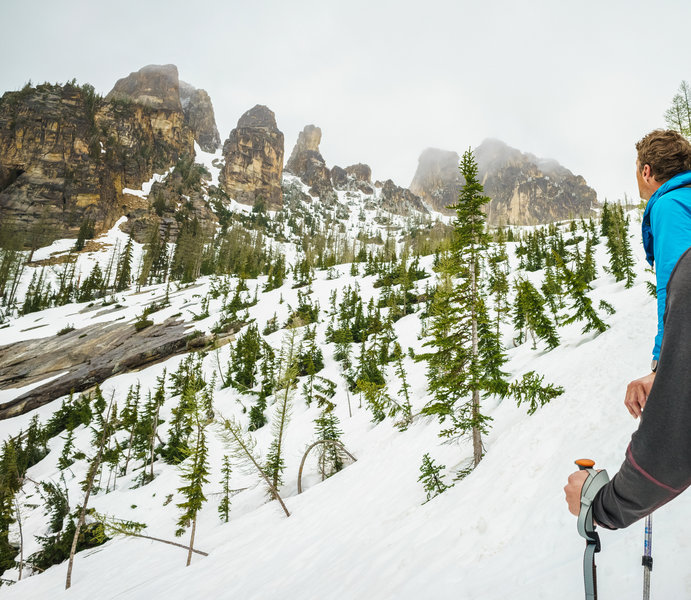 Best way to get up close with the liberty bell formations is from the south side blue lake trail access
