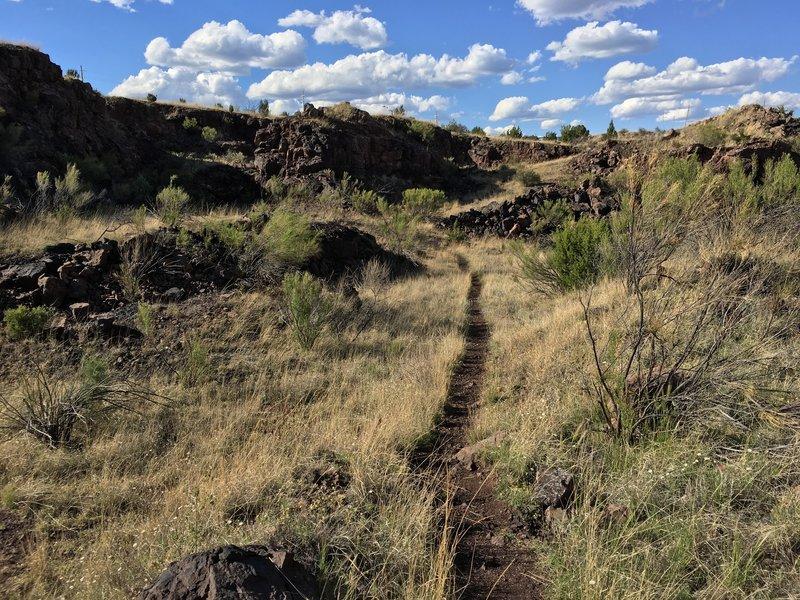 Nice singletrack through the mine areas