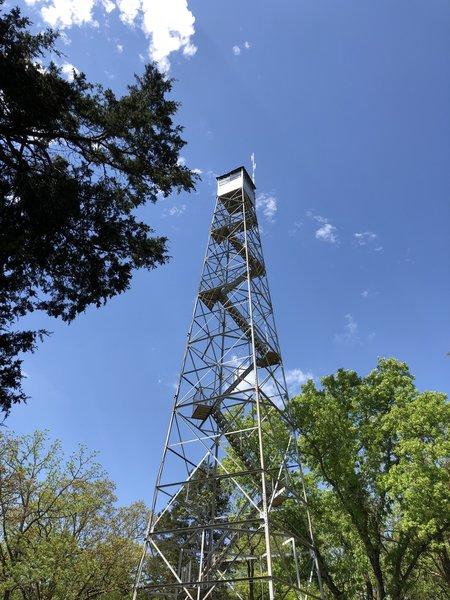 Fire tower parking lot