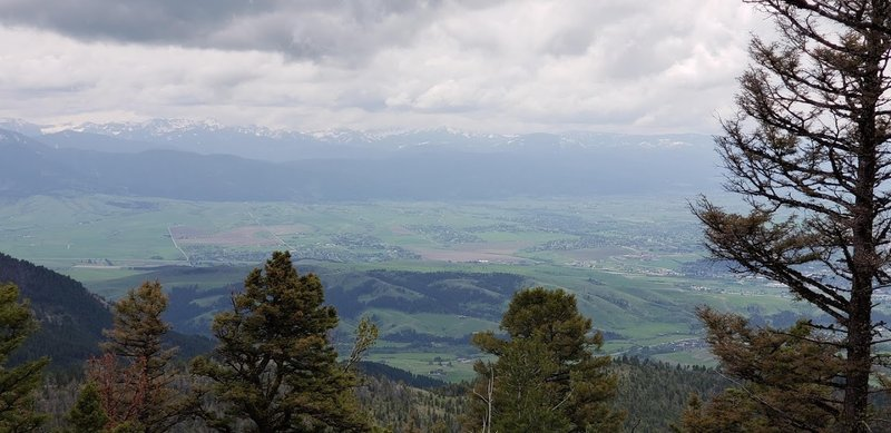 View south, looking out over Bozeman & Story Hill