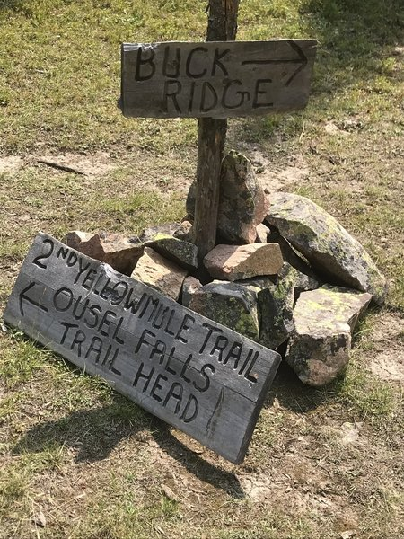 2nd Yellow Mule Trail intersection with  Buck Ridge