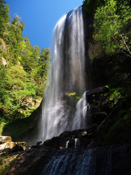 Silver Falls from the east.