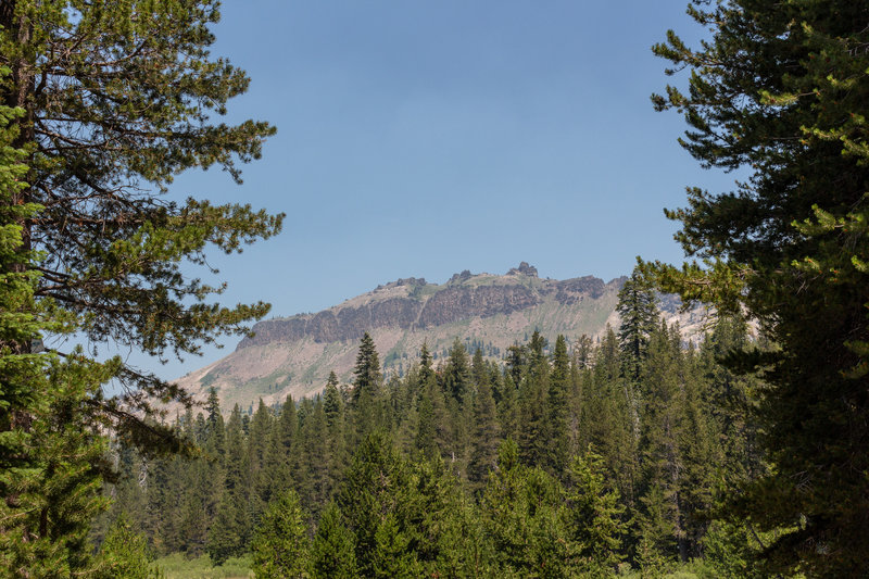 Castle Peak through the trees on Castle Valley Road.