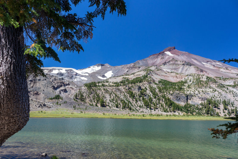 South Sister in front of Green Lakes.